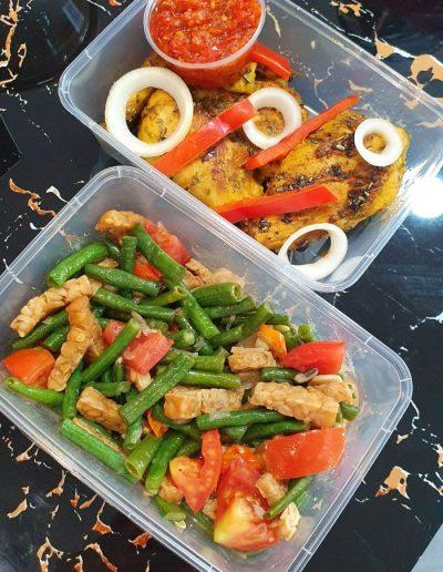 A La Carte Catering Menu Long Beans & Ayam Bumbu Rempah 45,000